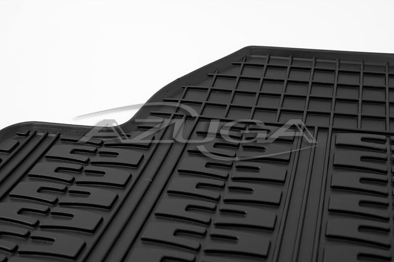 Gummimatten für VW Touran 2003-8/2015 / Caddy Gummi-Fußmatten mit runden Clips