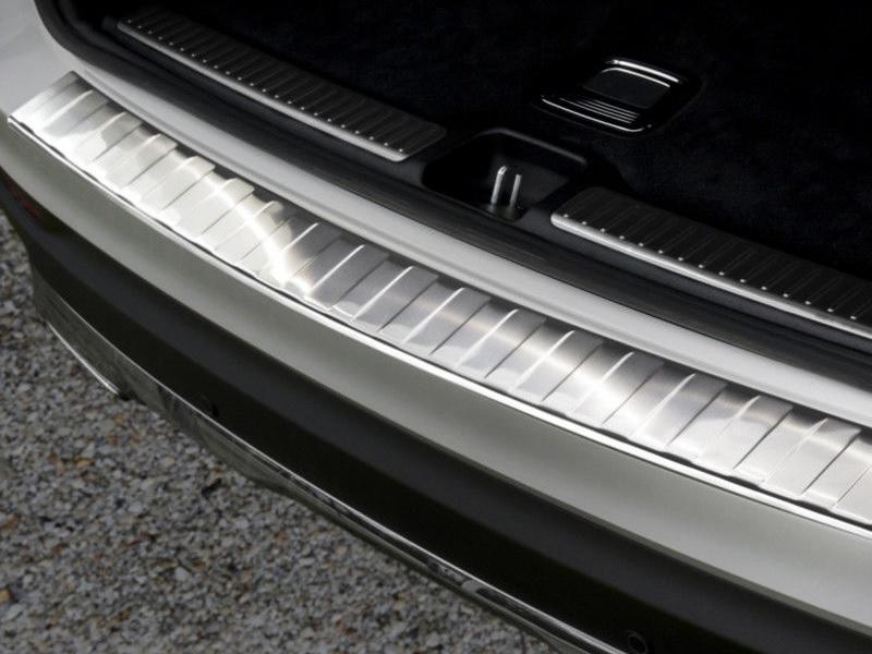 Qualitäts Ladekantenschutz Edelstahl Schutz Leiste für Mercedes GLC X253 2015
