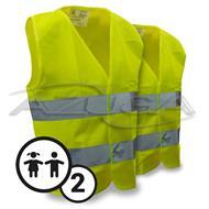 Sicherheits-Warnwesten-Set für Kinder
