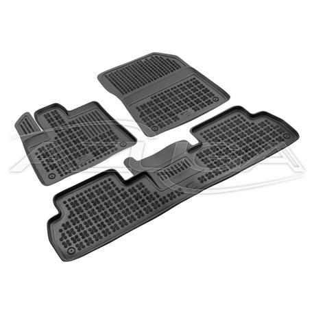 Hohe Gummi-Fußmatten für Citroen Berlingo III/Opel Combo/Peugeot Rifter ab 8/2018 3-tlg.