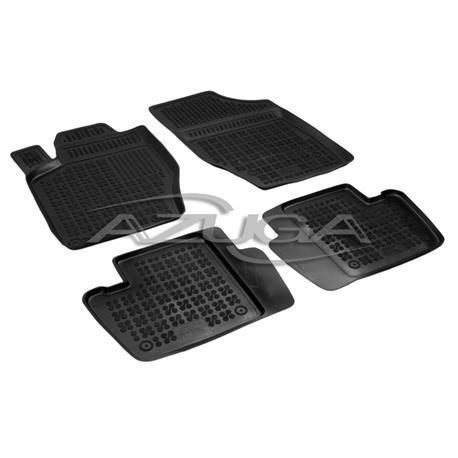 Hohe Gummi-Fußmatten für Citroen C4 ab 2004-10/2010/Peugeot 307