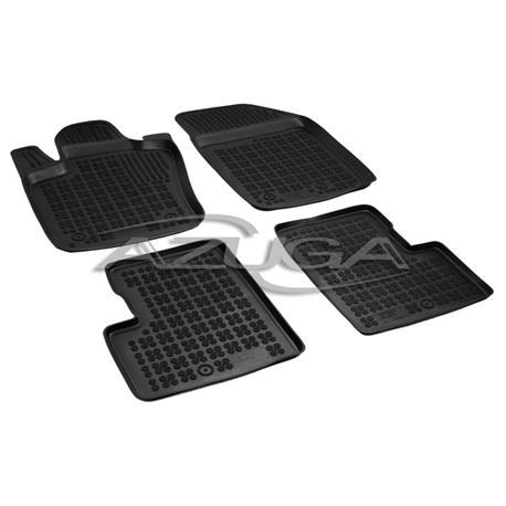 Hohe Gummi-Fußmatten für Fiat 500X ab 2015 ab 2007 4-tlg.