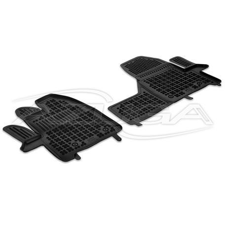 Hohe Gummi-Fußmatten für Ford Transit/Tourneo Custom ab 2018 (Beifahrer-Einzelsitz)