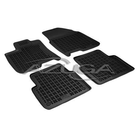 Hohe Gummi-Fußmatten für Nissan Qashqai+2 (10/2008 bis 2/2010) 4-tlg.