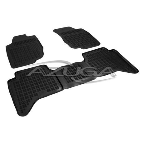 Hohe Gummi-Fußmatten für Toyota Hilux ab 10/2005 3-tlg.