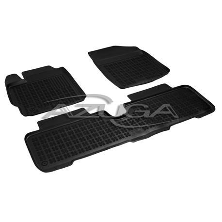 Hohe Gummi-Fußmatten für Toyota Yaris ab 2006 bis 8/2011 3-tlg.
