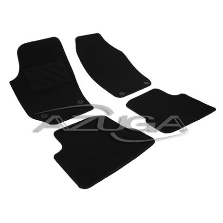 Textil-Fußmatten für Skoda Fabia II ab 11/2007 (runde Befestigung)