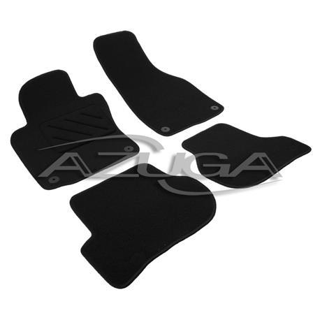 Textil-Fußmatten für Skoda Octavia II ab 2008 (1Z) (runde Befestigung)