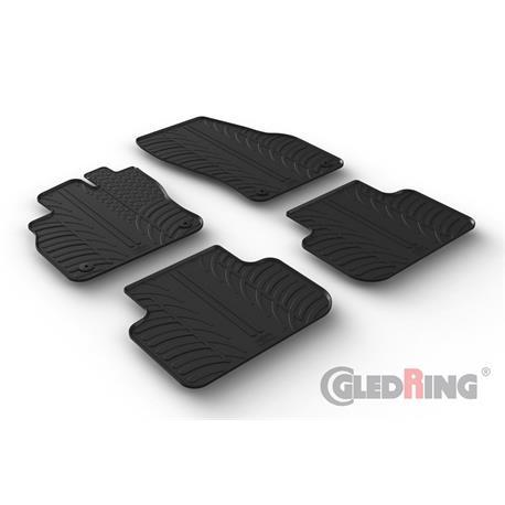Gummi-Fußmatten für Audi Q3 ab 11/2018 (F3)/Audi Q3 Sportback ab 10/2019