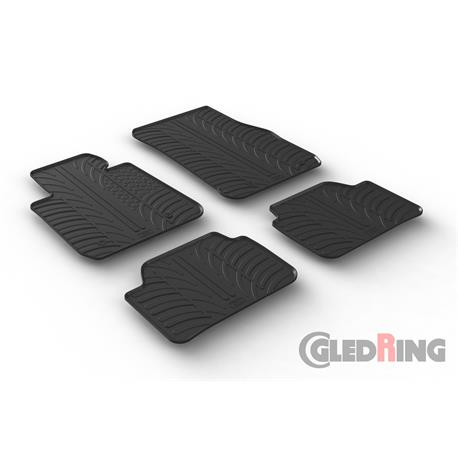 Gummi-Fußmatten für BMW 1er (F20/F21) ab 9/2011-8/2018