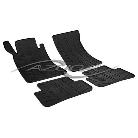 Gummi-Fußmatten für Mercedes C-Klasse W203/S203 ab 2000/ab 2001