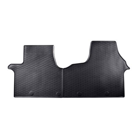 Gummi-Fußmatten für Opel Vivaro B ab 8/2014/Renault Trafic ab 9/2014