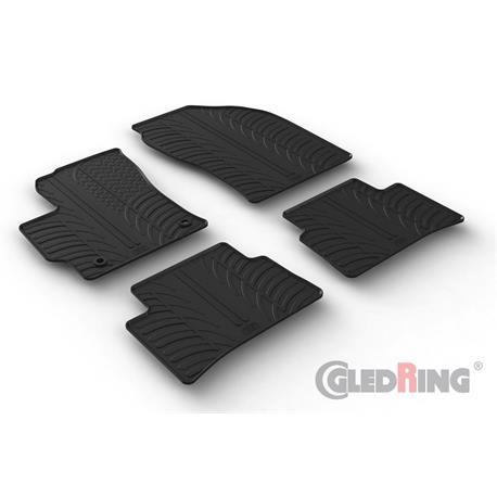 Gummi-Fußmatten für Toyota Corolla Schrägheck ab 2019