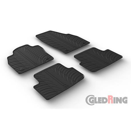 Gummi-Fußmatten für VW Polo ab 10/2017