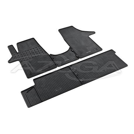Gummi-Fußmatten für VW T5/T6 Transporter mit Sitzen/Caravelle (5-teiliger Satz)