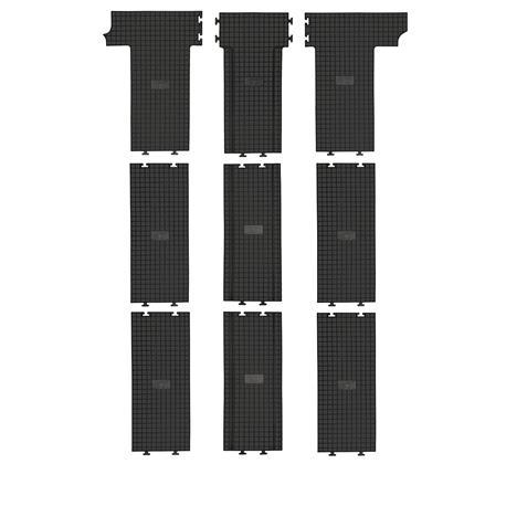 Gummi-Fußmatten für VW T6 Multivan (2./3. Sitzreihe) ab 2015