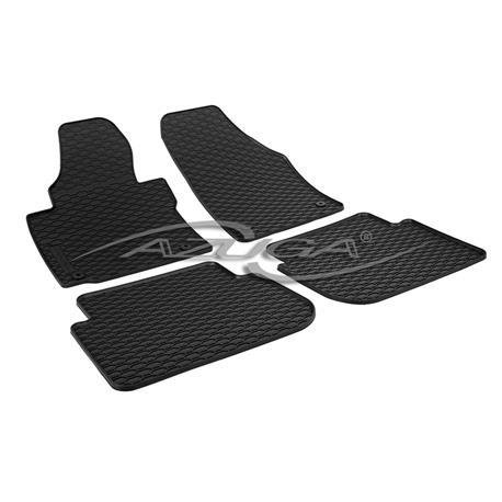 Gummi-Fußmatten für VW Touran ab 2003-8/2015 (inkl. Befestigungs-Clips)