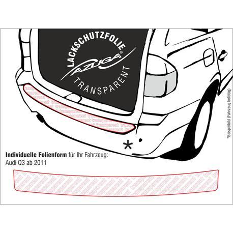 Lackschutzfolie Ladekantenschutz für Audi Q3 ab 2011-10/2018 (farblos)