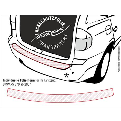 Lackschutzfolie Ladekantenschutz für BMW X5 (E70) ab 3/2007 (farblos)