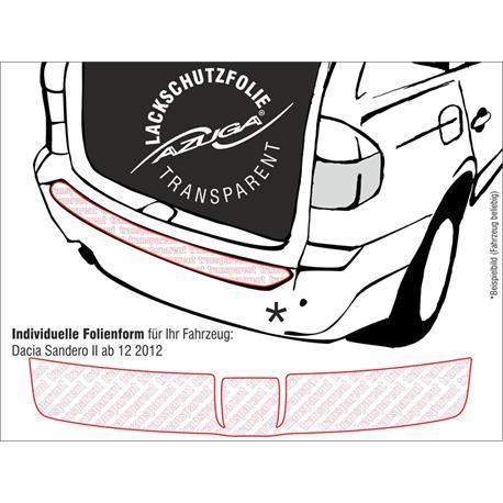 Lackschutzfolie Ladekantenschutz für Dacia Sandero II ab 12/2012 (farblos)