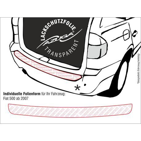 Lackschutzfolie Ladekantenschutz für Fiat 500 ab 10/2007 (farblos)