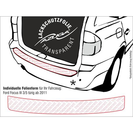 Lackschutzfolie Ladekantenschutz für Ford Focus III Fließheck ab 2/2011-8/2018 (farblos)