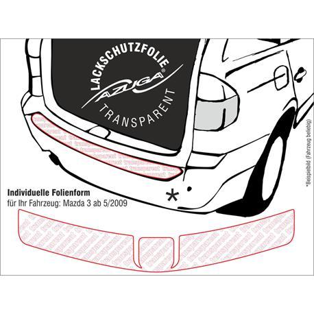 Lackschutzfolie Ladekantenschutz für Mazda 3 ab 5/2009-9/2013 (farblos)