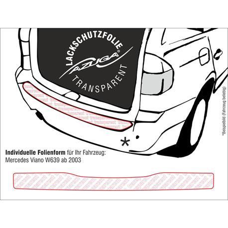 Lackschutzfolie Ladekantenschutz für Mercedes Viano ab 2003 (W639) (farblos)