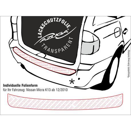 Lackschutzfolie Ladekantenschutz für Nissan Micra ab 12/2010 (K13) (farblos)
