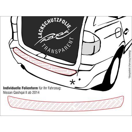 Lackschutzfolie Ladekantenschutz für Nissan Qashqai ab 2/2014 (farblos)
