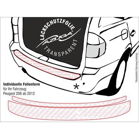 Lackschutzfolie Ladekantenschutz für Peugeot 208 ab 2012 (farblos)
