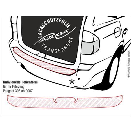 Lackschutzfolie Ladekantenschutz für Peugeot 308 ab 2007-9/2013 (farblos)