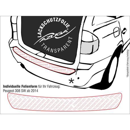 Lackschutzfolie Ladekantenschutz für Peugeot 308 SW ab 4/2014 (farblos)