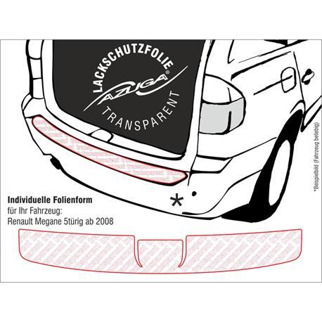 Lackschutzfolie Ladekantenschutz für Renault Megane III 5-türer ab 11/2008 (farblos)