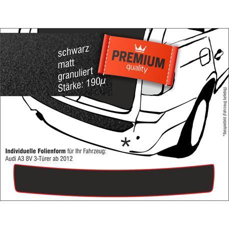 Lackschutzfolie Ladekantenschutz für Audi A3 8V 3-tür. ab 2012 (schwarz)