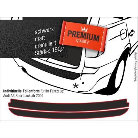 Lackschutzfolie Ladekantenschutz für Audi A3 Sportback ab 2004 (schwarz)