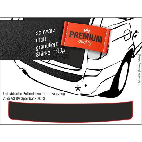 Lackschutzfolie Ladekantenschutz für Audi A3 8V Sportback ab 2013 (schwarz)