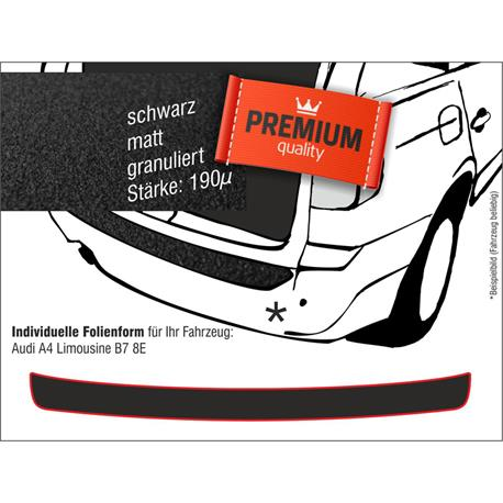 Lackschutzfolie Ladekantenschutz für Audi A4 Limousine (B7/8E) ab 2004 (schwarz)