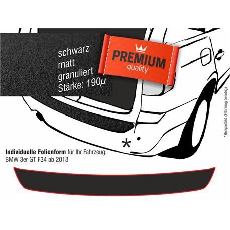 Lackschutzfolie Ladekantenschutz für BMW 3er GT (F34) ab 2013 (schwarz)