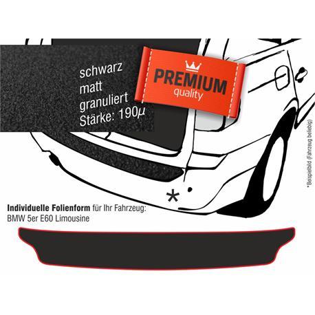 Lackschutzfolie Ladekantenschutz für BMW 5er E60 Limousine (schwarz)