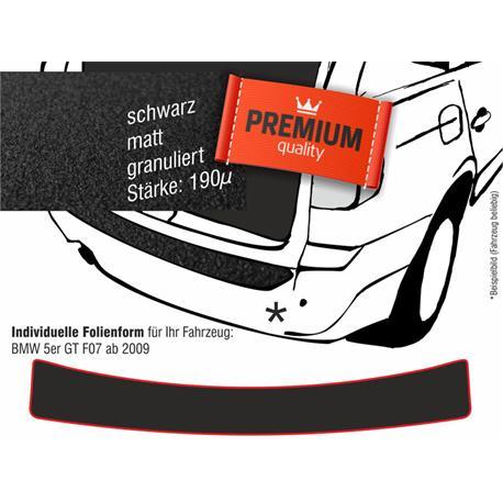 Lackschutzfolie Ladekantenschutz für BMW 5er GT (F07) ab 2009 (schwarz)