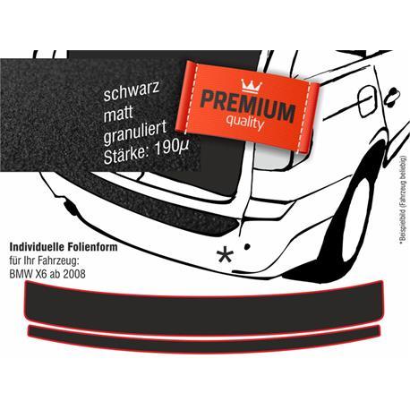Lackschutzfolie Ladekantenschutz für BMW X6 (E71) ab 2008-11/2014 (schwarz)