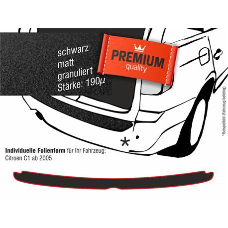 Lackschutzfolie Ladekantenschutz für Citroen C1/Peugeot 107/Toyota Aygo ab 2005 (schwarz)