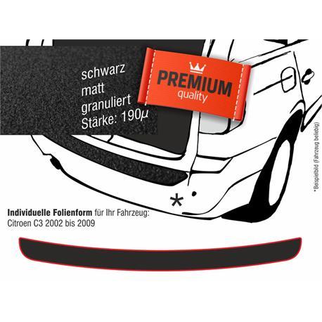 Lackschutzfolie Ladekantenschutz für Citroen C3 ab 2002-2009 (schwarz)