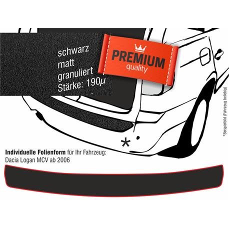 Lackschutzfolie Ladekantenschutz für Dacia Logan MCV Kombi ab 2007 (schwarz)