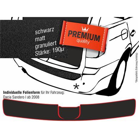 Lackschutzfolie Ladekantenschutz für Dacia Sandero ab 2008 (schwarz)