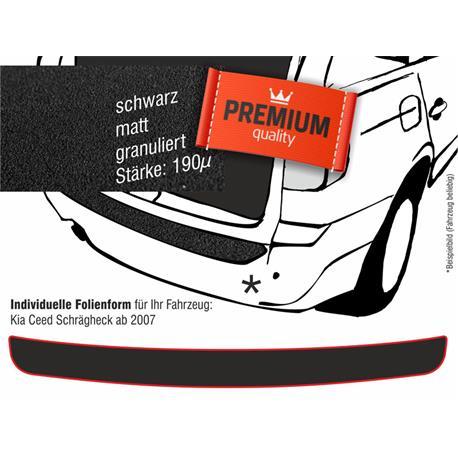 Lackschutzfolie Ladekantenschutz für Kia Ceed Schrägheck ab 2007 (schwarz)