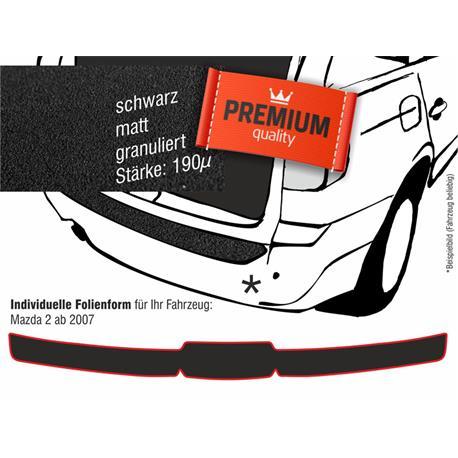 Lackschutzfolie Ladekantenschutz für Mazda 2 ab 10/2007-2014 (schwarz)