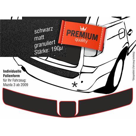Lackschutzfolie Ladekantenschutz für Mazda 3 ab 5/2009 (schwarz)