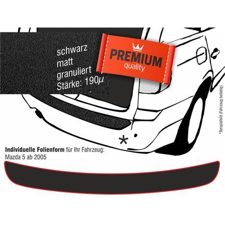Lackschutzfolie Ladekantenschutz für Mazda 5 ab 2005 bis 9/2010 (schwarz)